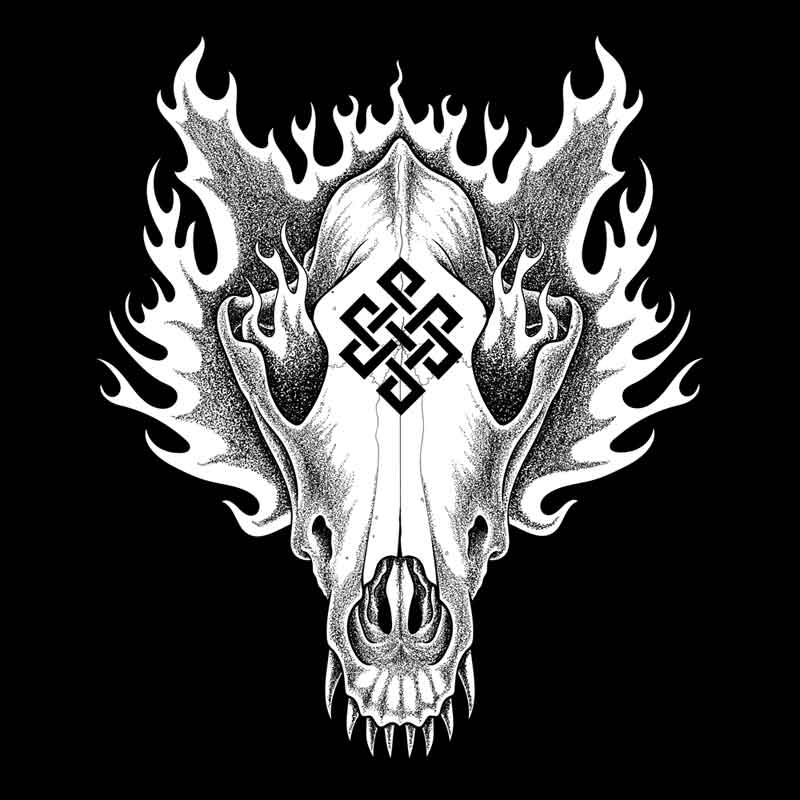 Tengger Cavalry Flaming Wolf Skull by Josh Cook